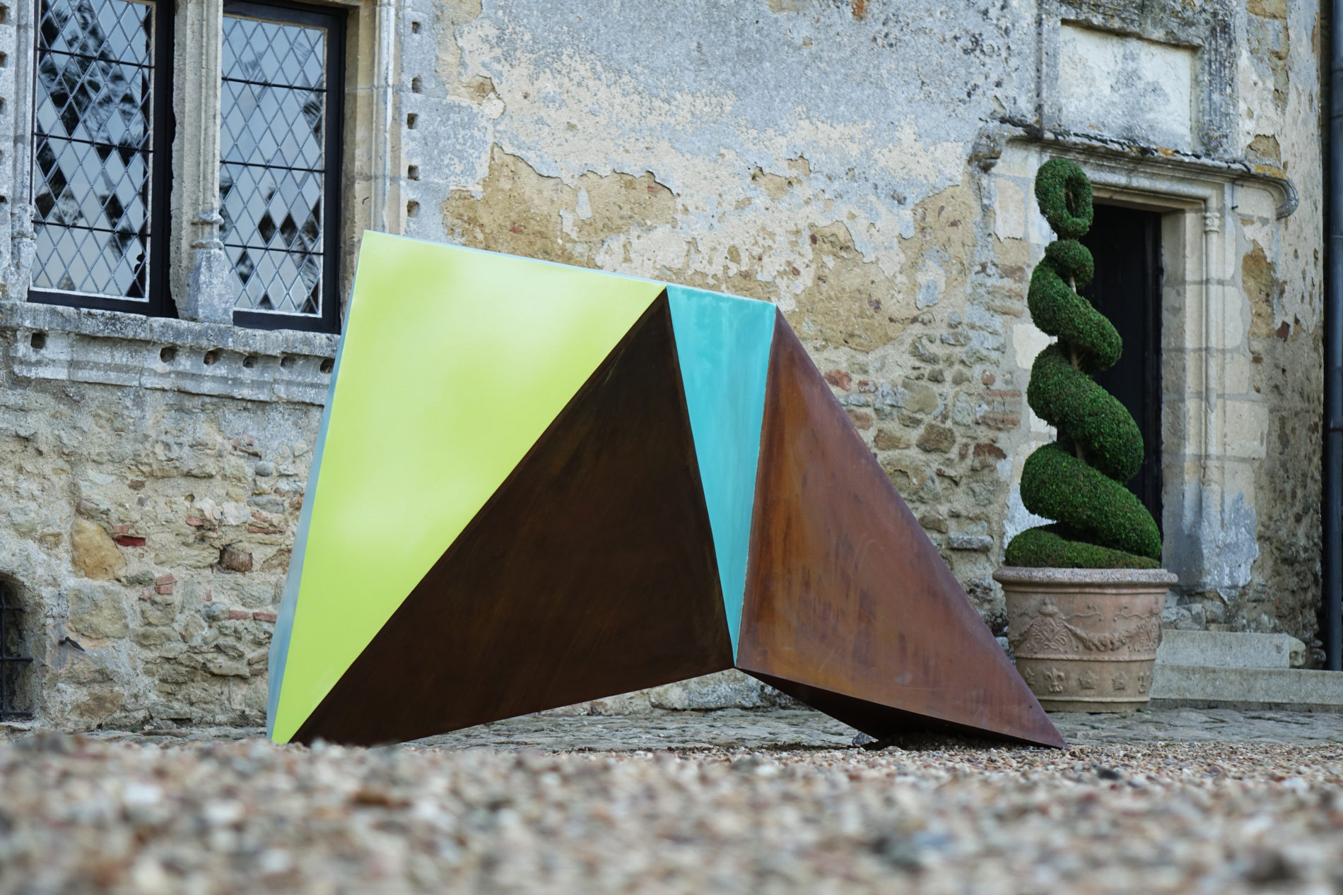 Sculpteur Guillaume Castel acier corten couleur