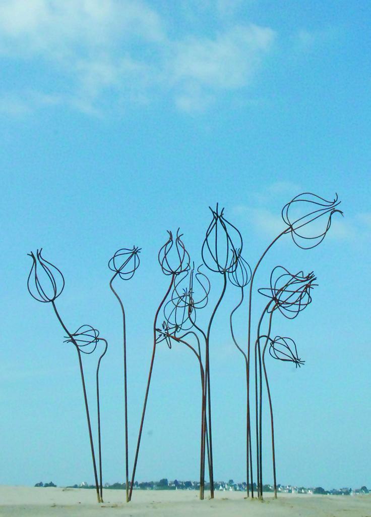 Acier oxidé sculpture Bretagne