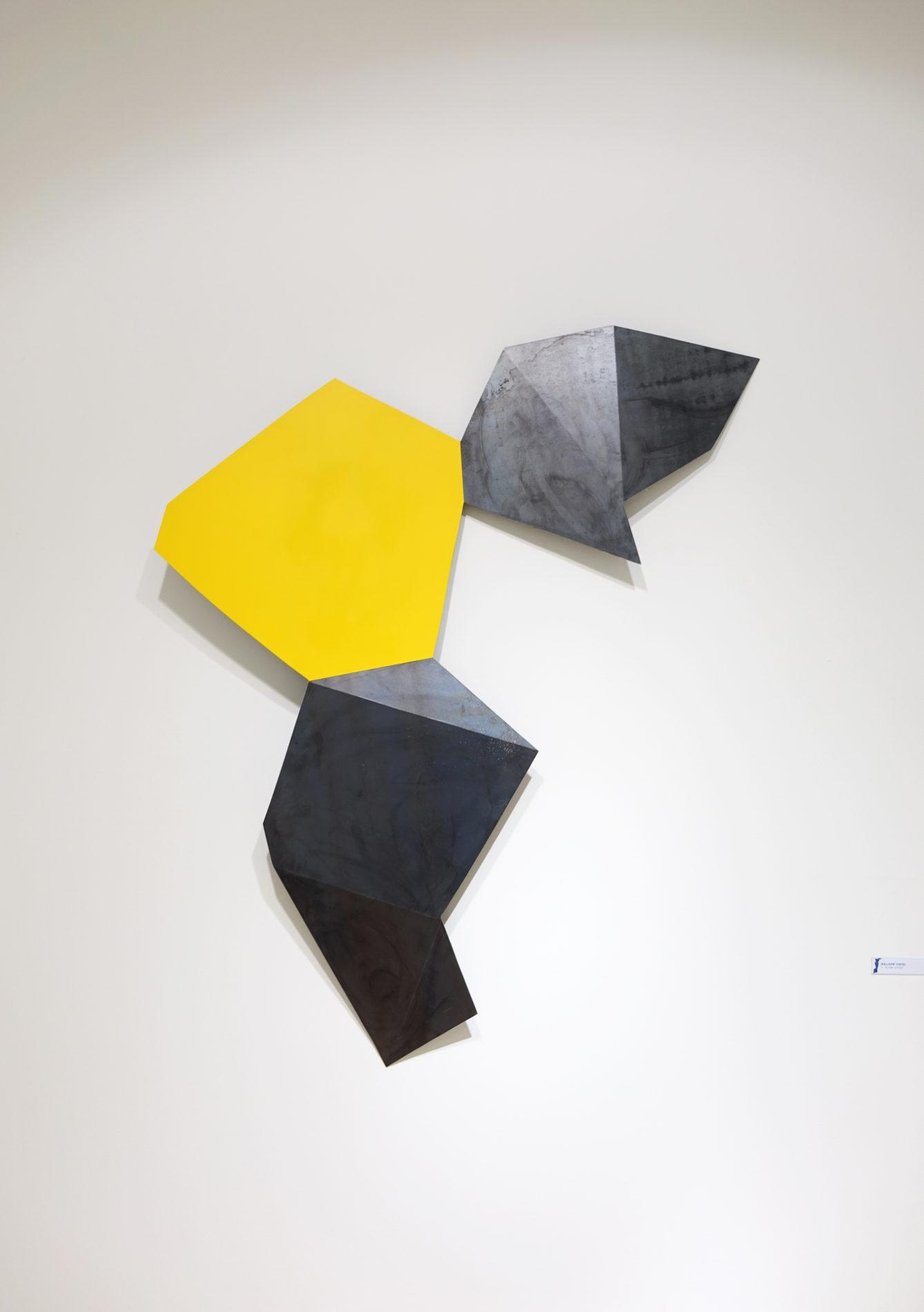 Territoire acier couleur Guillaume Castel sculpture