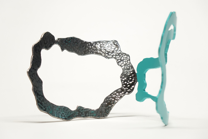 algue organique acier bretagne sculpteur