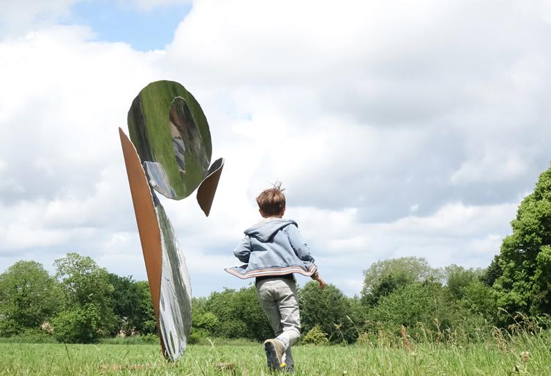 sculpture acier corten inox poli Bretagne